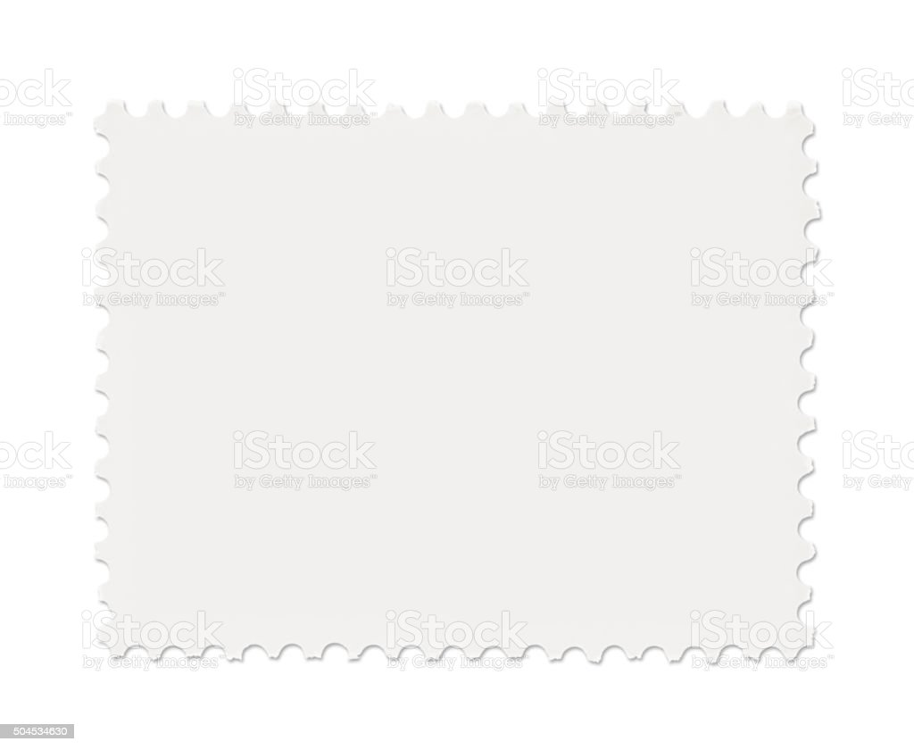 Blank Postage Stamp (with path) stock photo