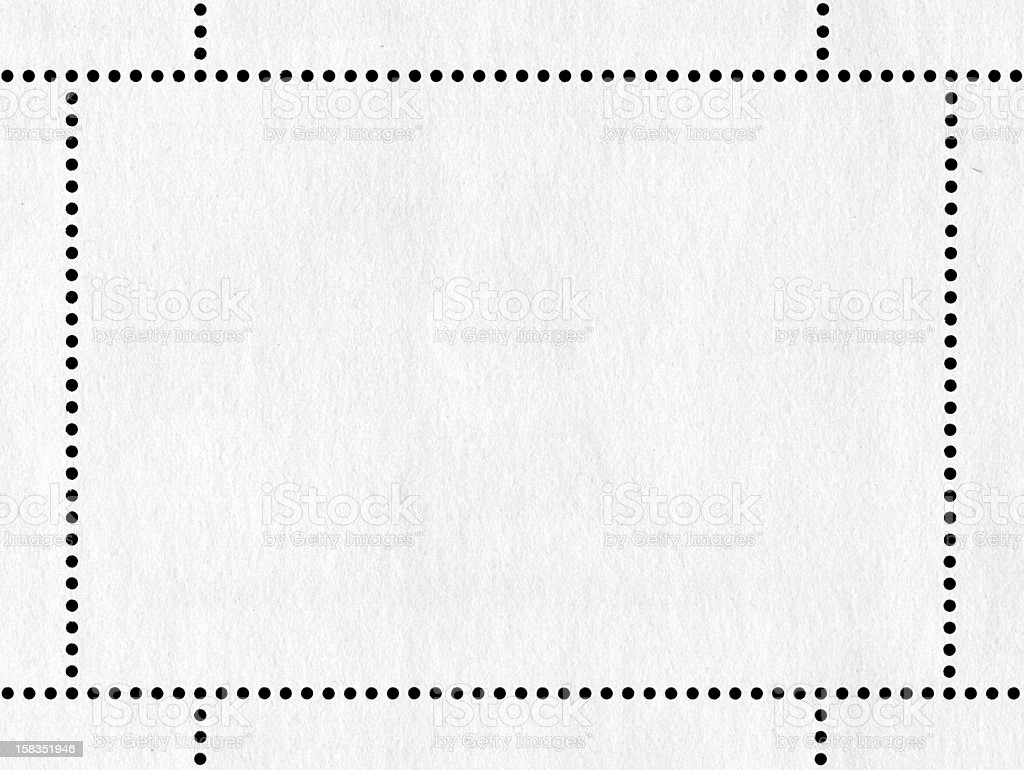 Blank postage stamp textured background royalty-free stock photo