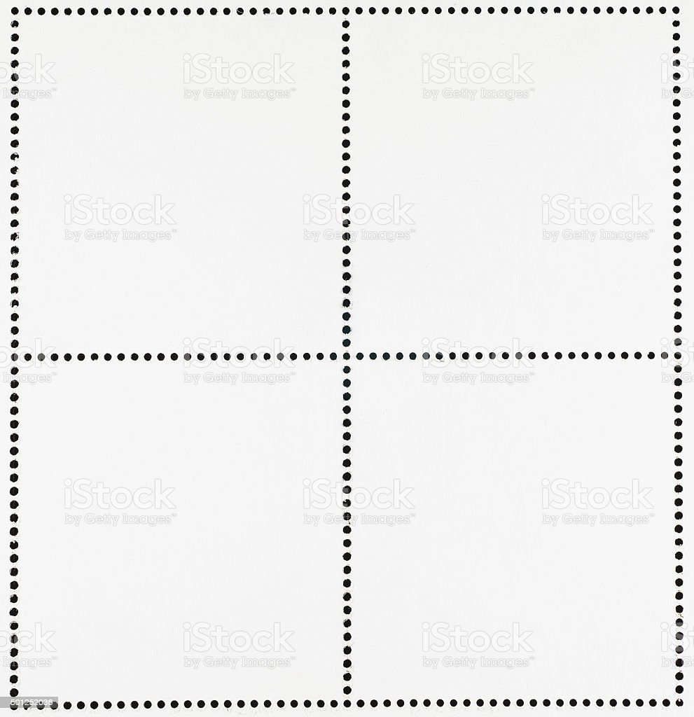 Blank Postage Stamps stock photo