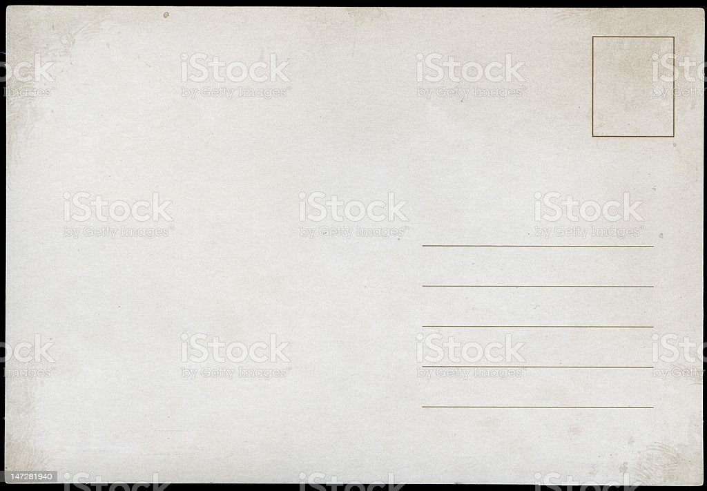 Blank Postcard royalty-free stock photo