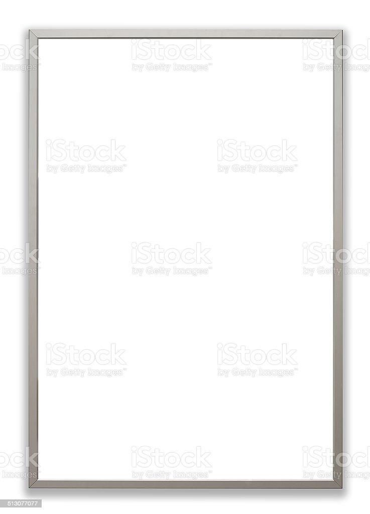 Blank poster frame stock photo
