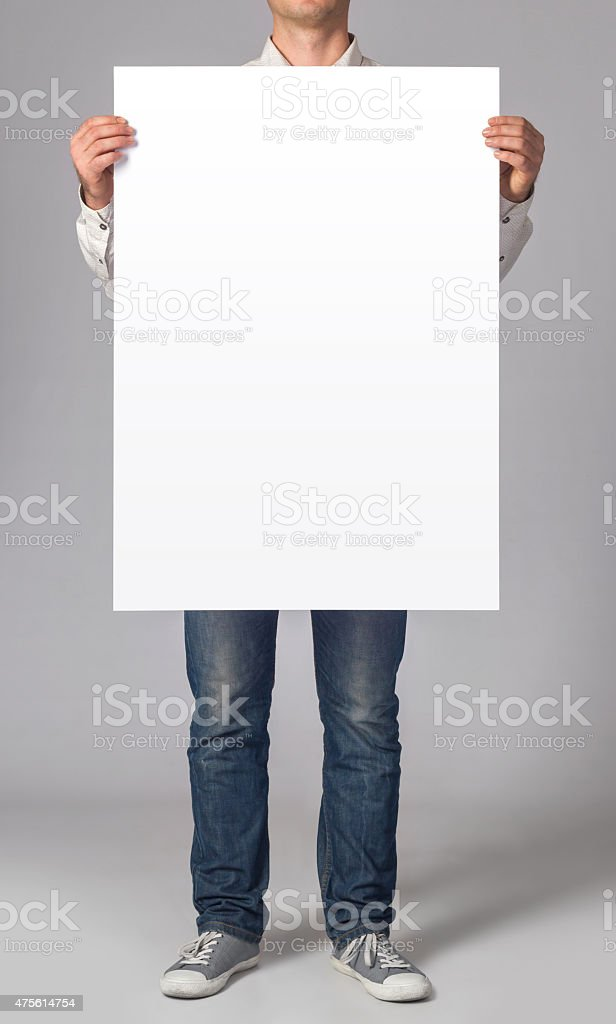 Blank poster stock photo