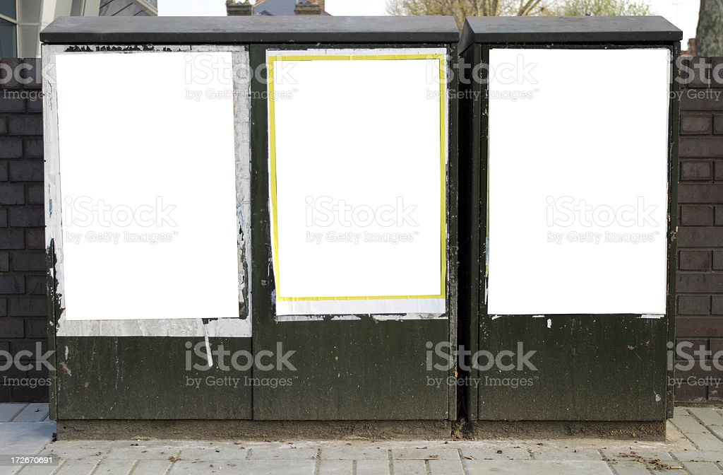 Blank posters royalty-free stock photo