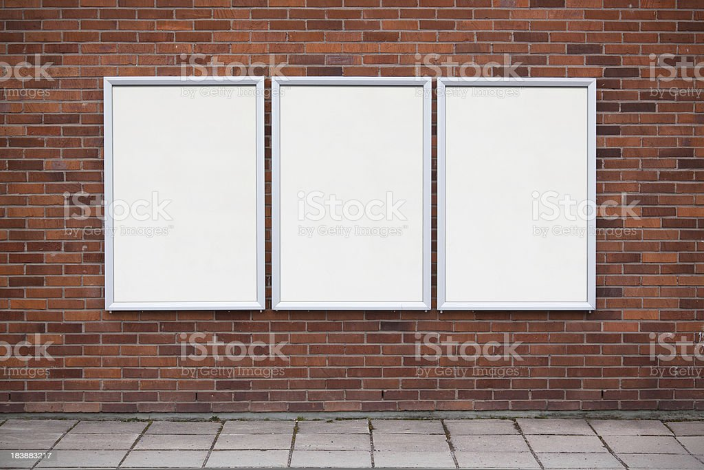Blank posters stock photo
