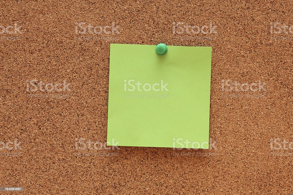 Blank Post-it Note royalty-free stock photo