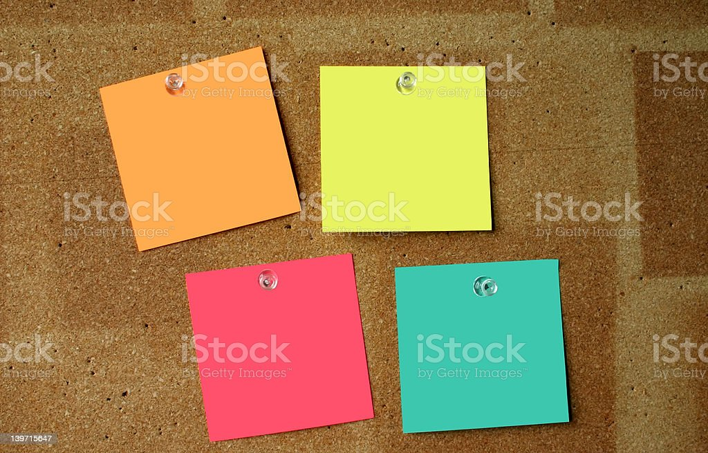 blank post-its #3 royalty-free stock photo