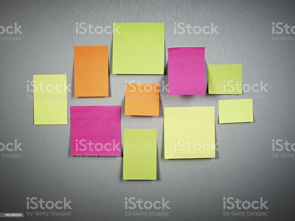 Blank post-its royalty-free stock photo