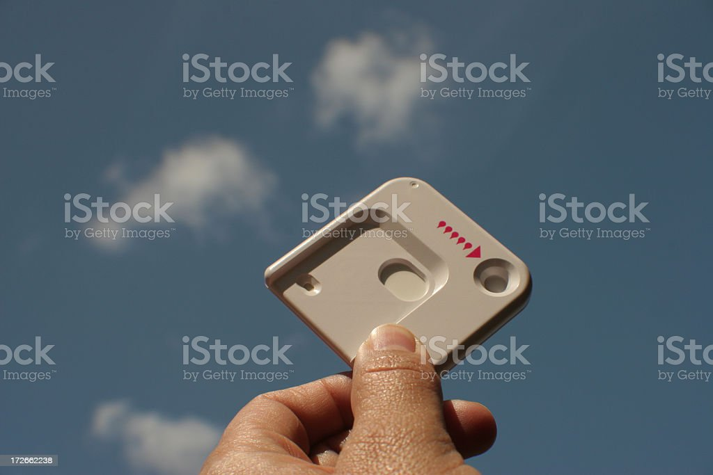 Blank pregnancy test  in the sky royalty-free stock photo