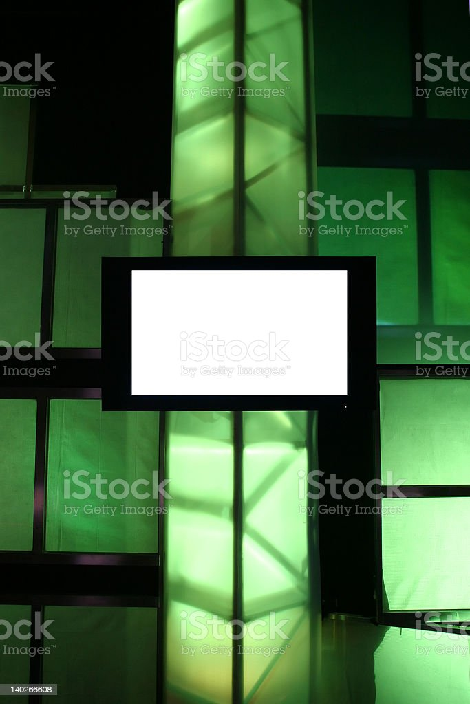 Blank Presentation Monitor stock photo