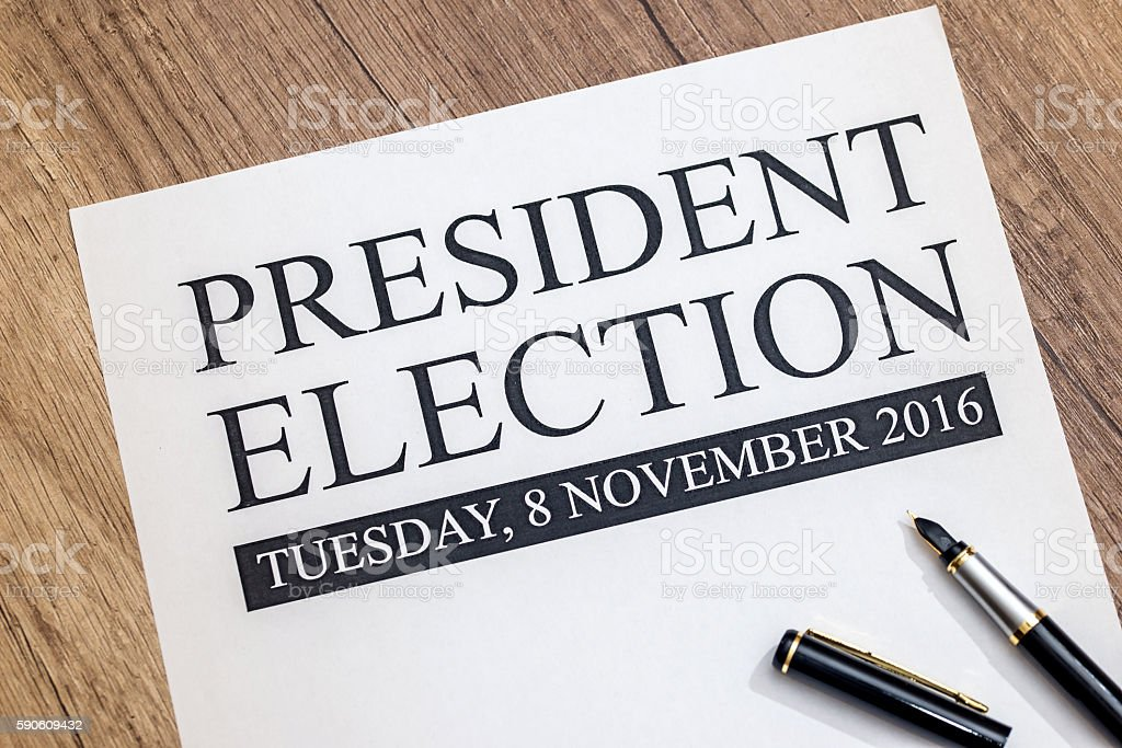 blank president election with pen stock photo