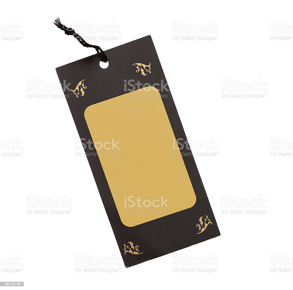 blank price label isolated royalty-free stock photo