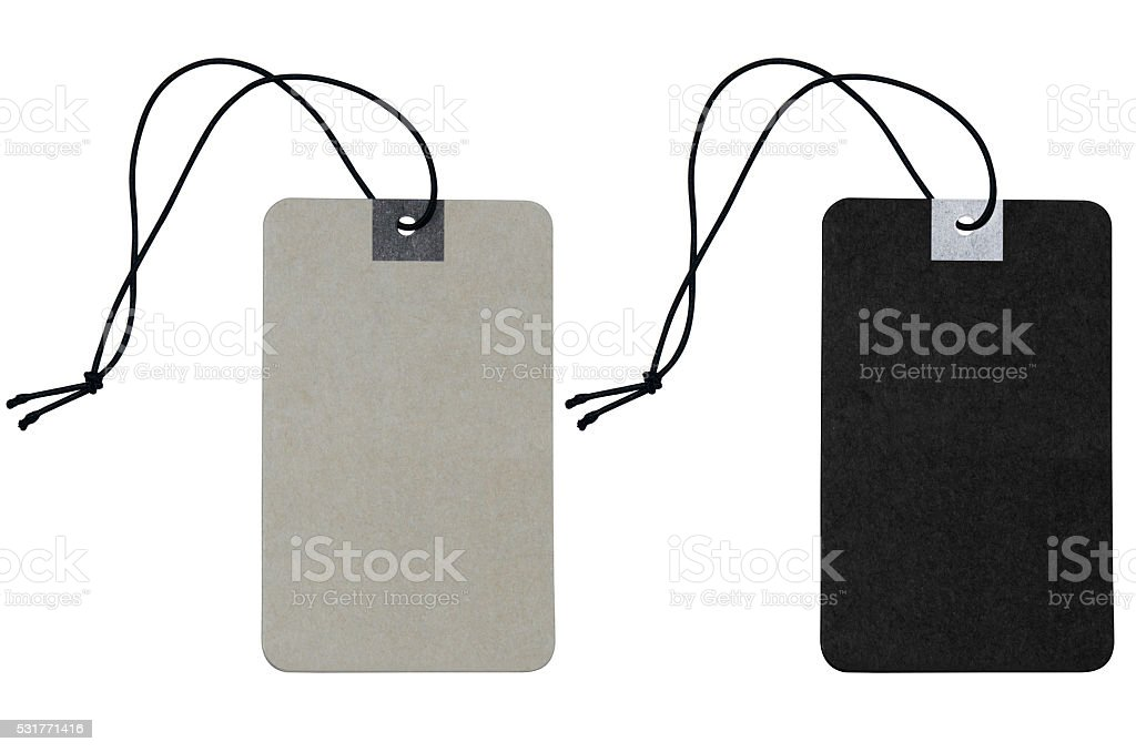 blank price label on white background include clipping path stock photo