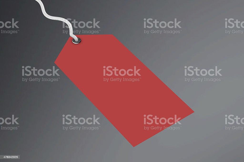 Blank price tag royalty-free stock photo