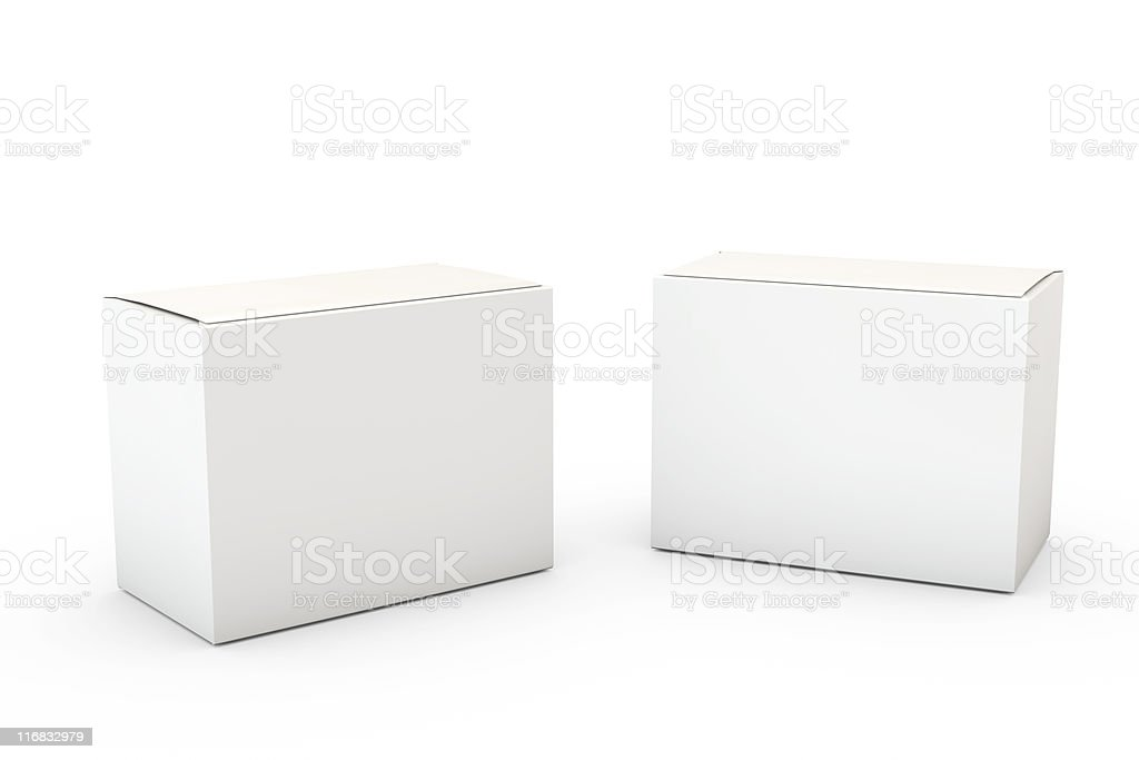 Blank product box isolated over a white background royalty-free stock photo