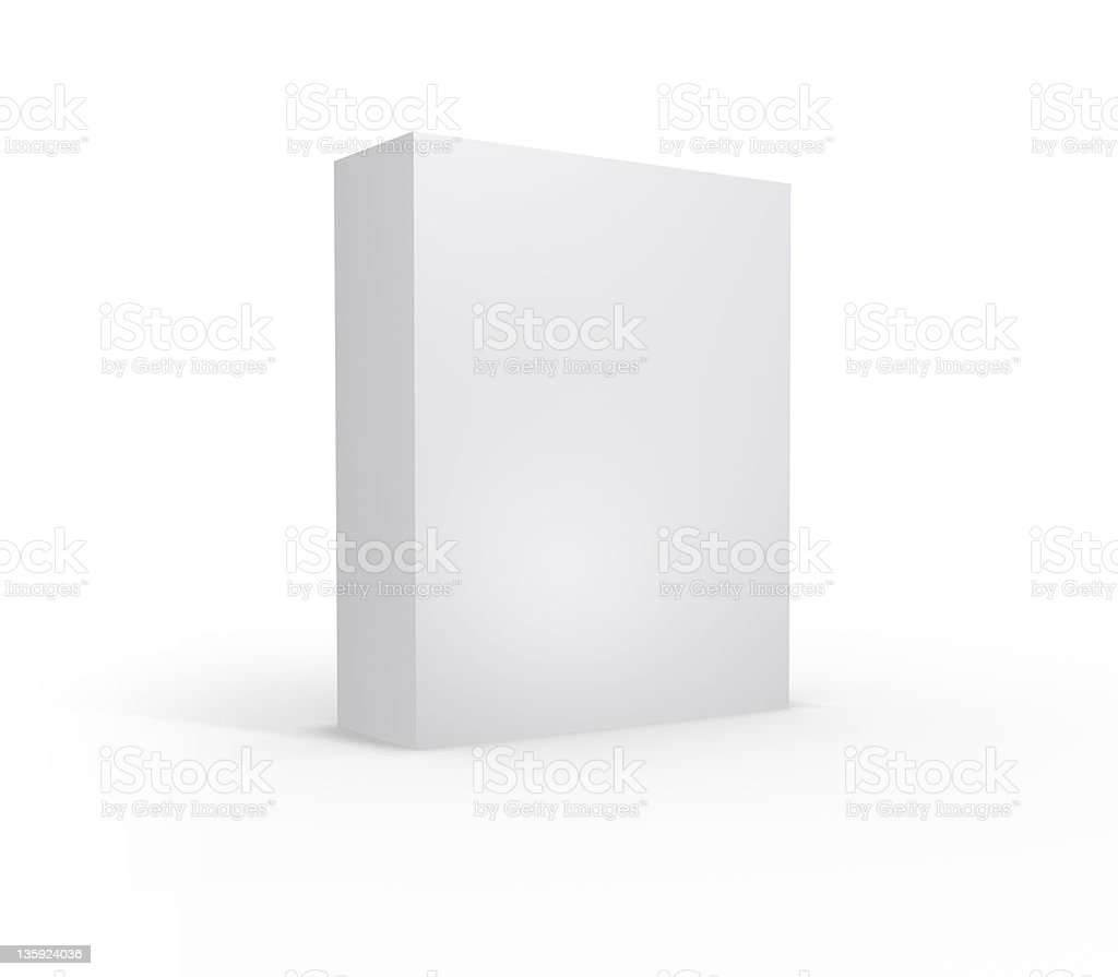 Blank Product Box - XL stock photo