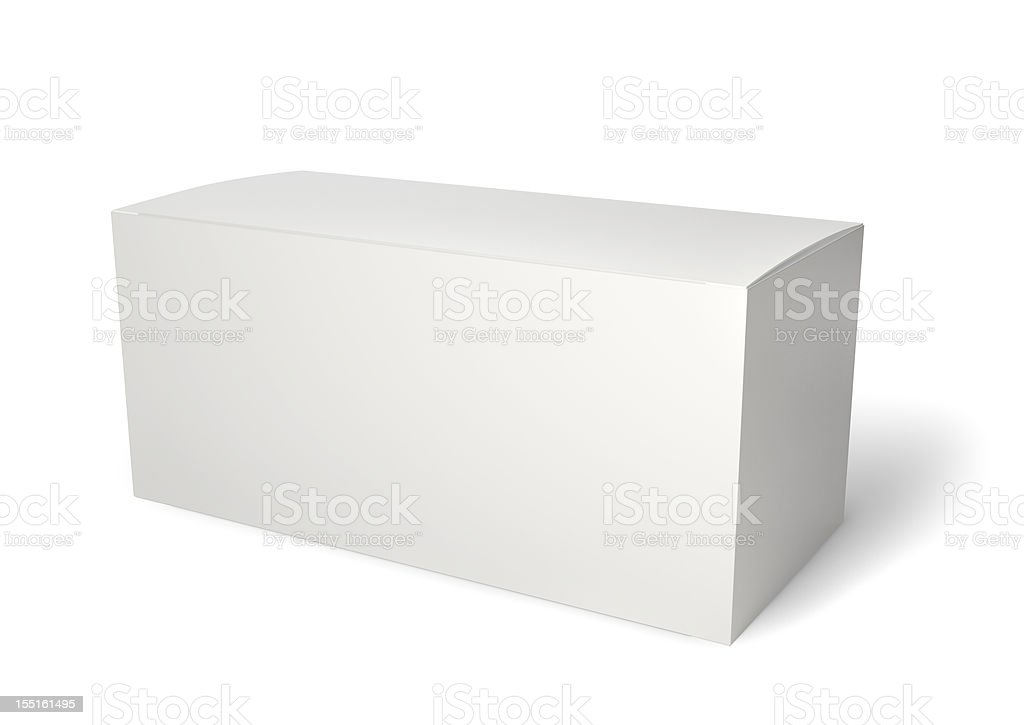 Blank product package isolated on white royalty-free stock photo