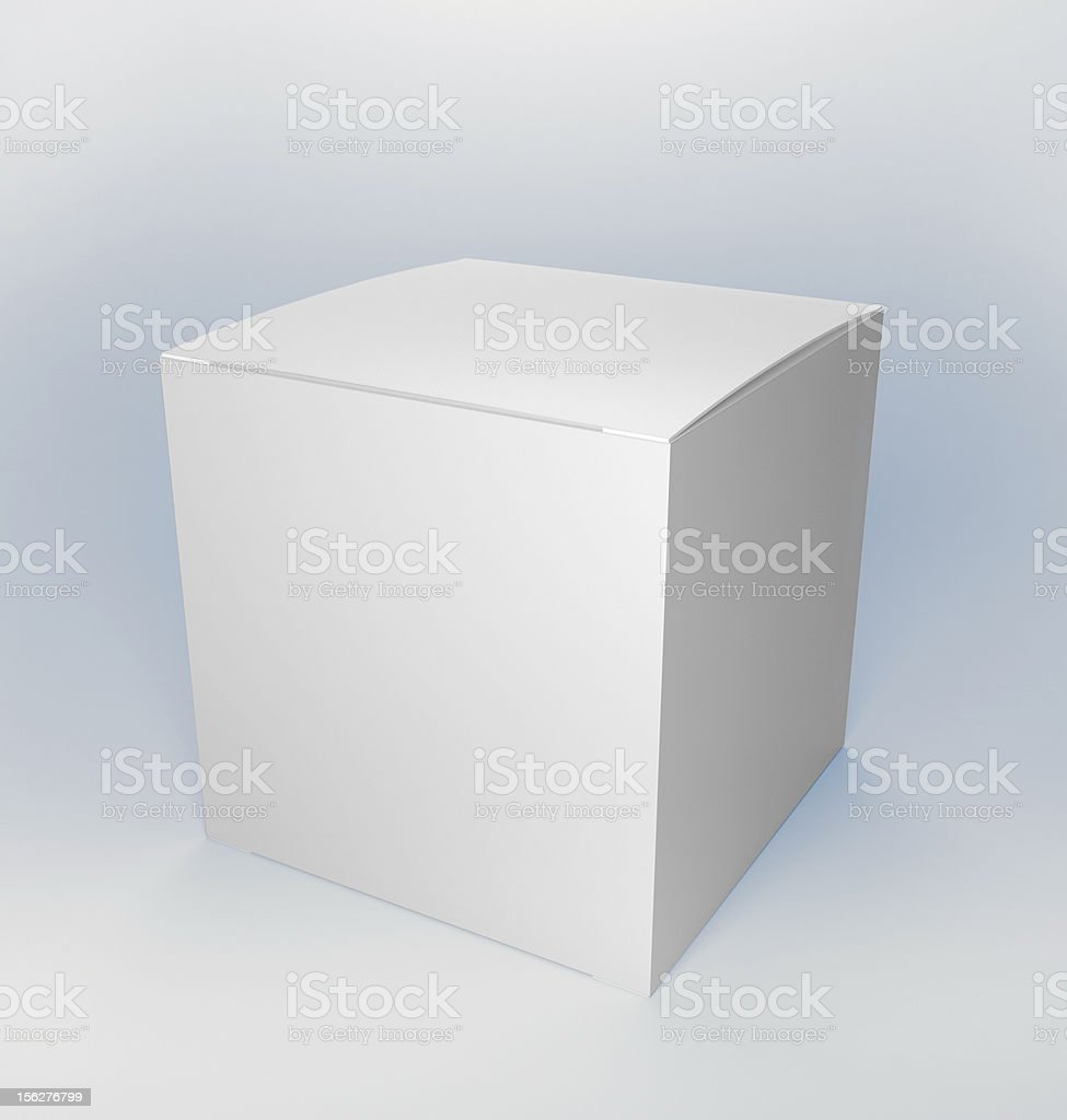 Blank product white box with clipping path royalty-free stock photo