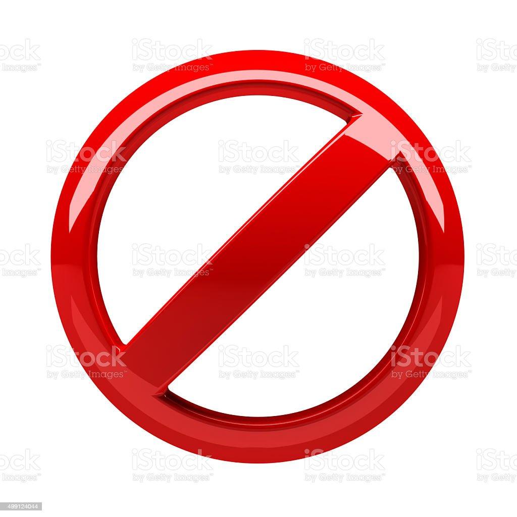 Blank prohibitory sign stock photo