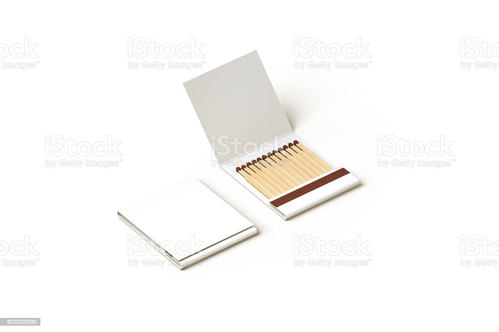 Blank promo matches book mock up, clipping path stock photo