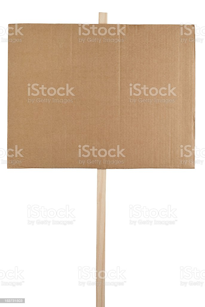 Blank protest sign stock photo