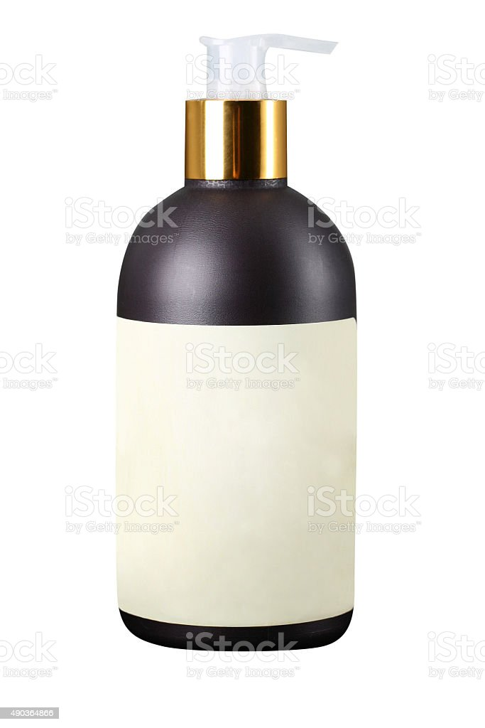 Blank pump product bottle stock photo