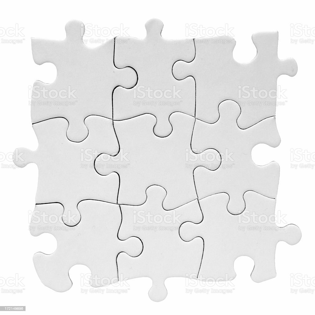 Blank Puzzle, nine pieces royalty-free stock photo
