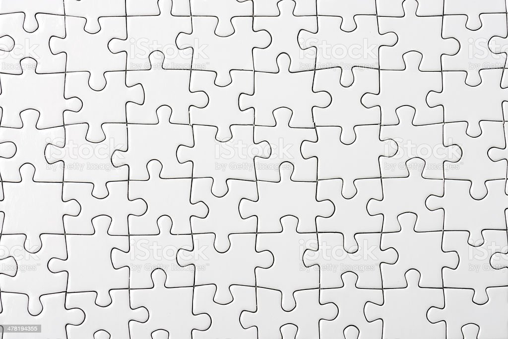 blank puzzle stock photo