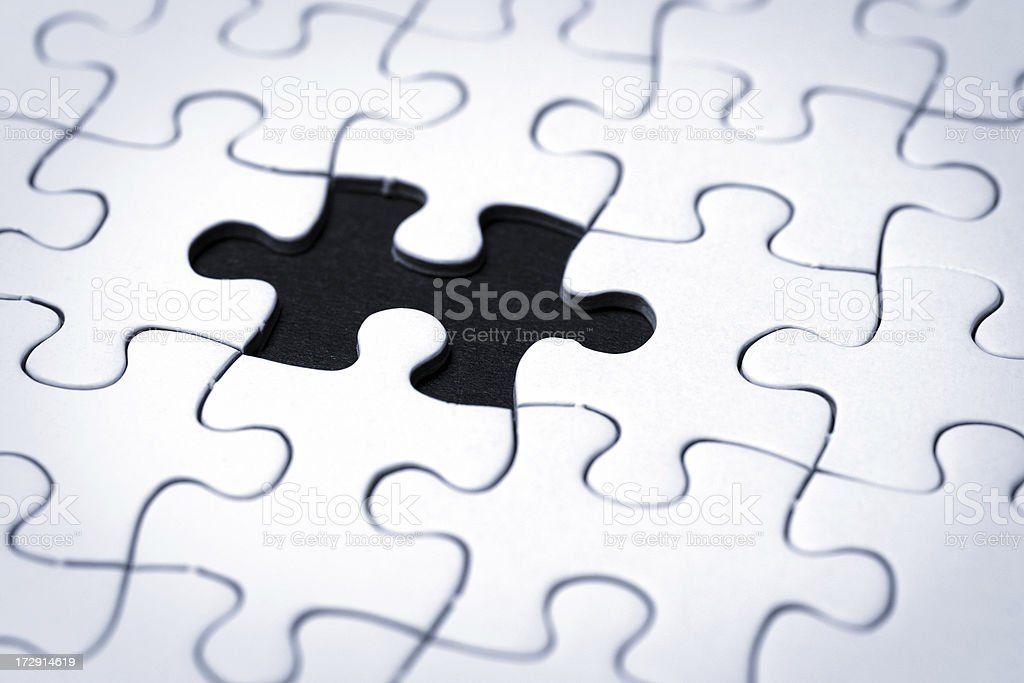 Blank Puzzle Piece stock photo