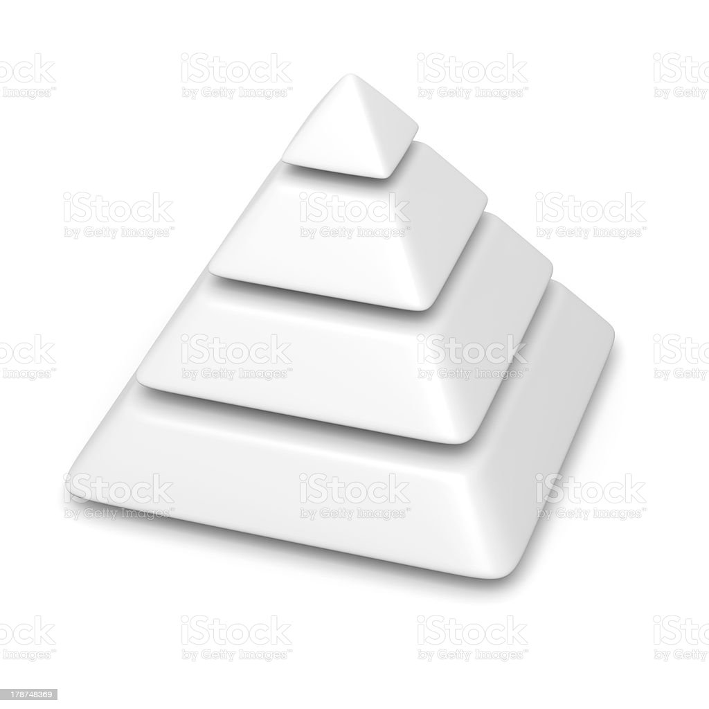 Blank White Pyramid D Template Pictures Images And Stock Photos