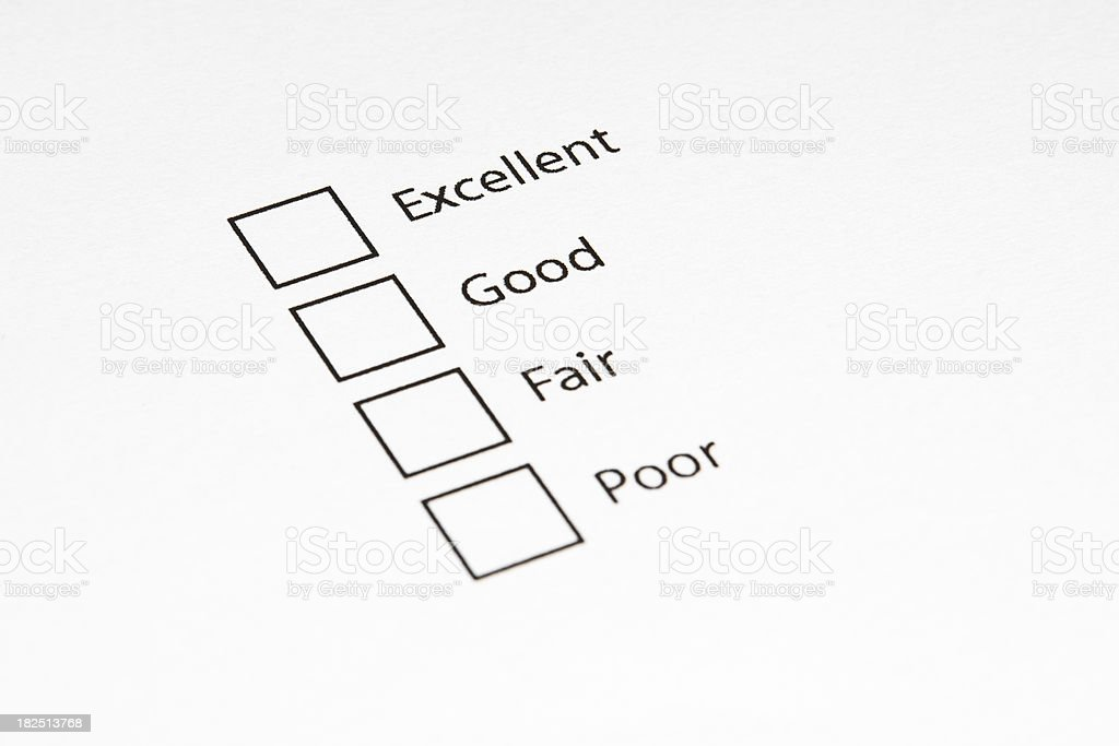 Blank Questionnaire/Survey royalty-free stock photo