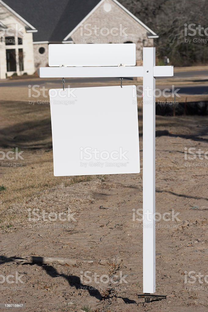 Blank Realty Sign royalty-free stock photo