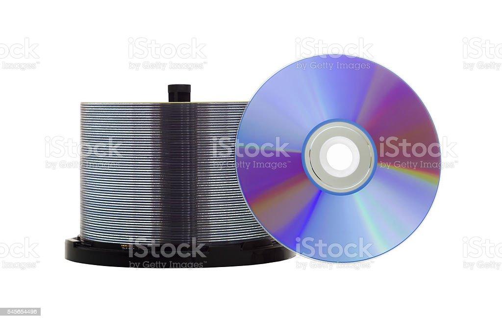 Blank recordable DVD discs stock photo