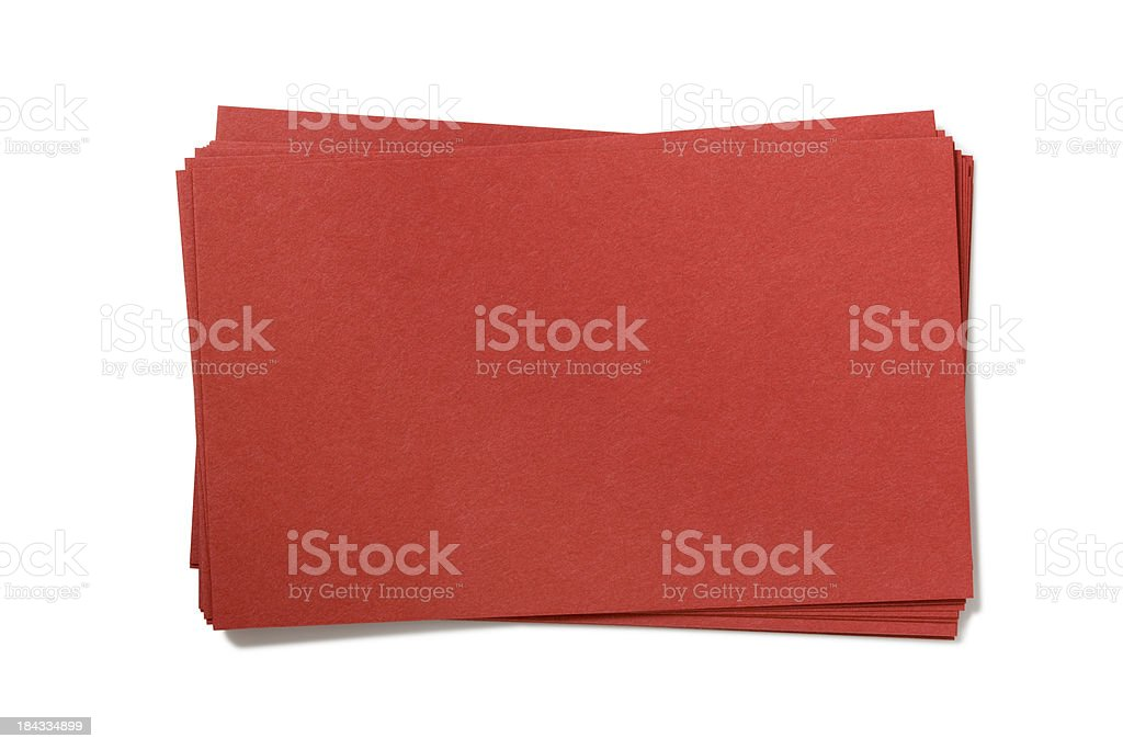 Blank Red Card royalty-free stock photo