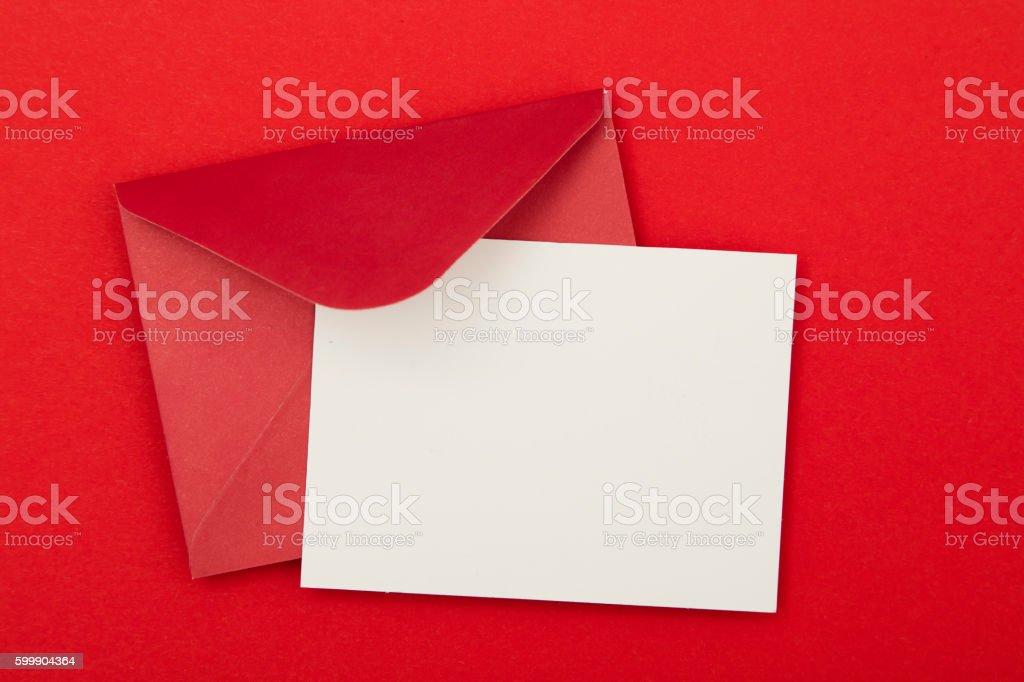 Blank red invitation stock photo