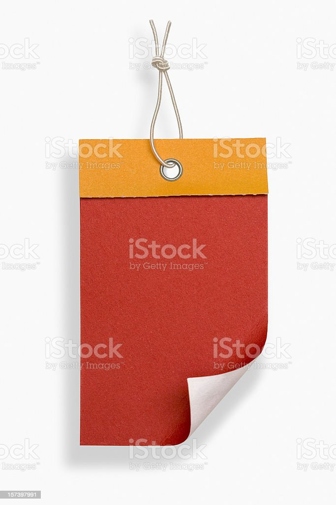 Blank red label royalty-free stock photo