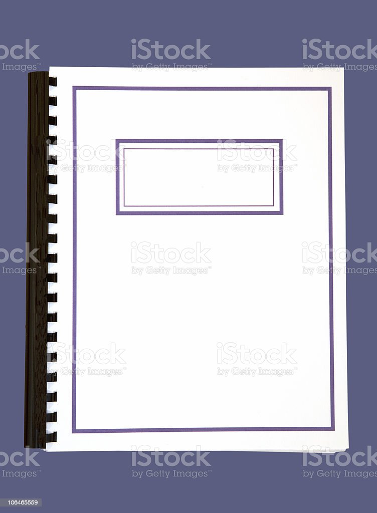 Blank Report Cover royalty-free stock photo