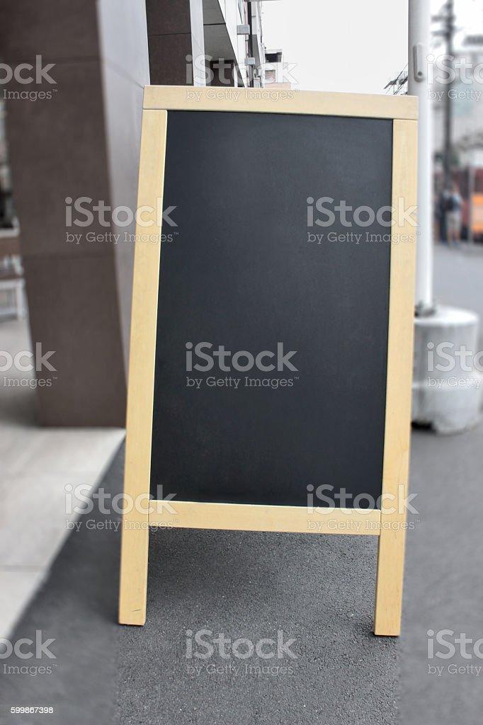 Blank Restaurant Menu Blackboard stock photo