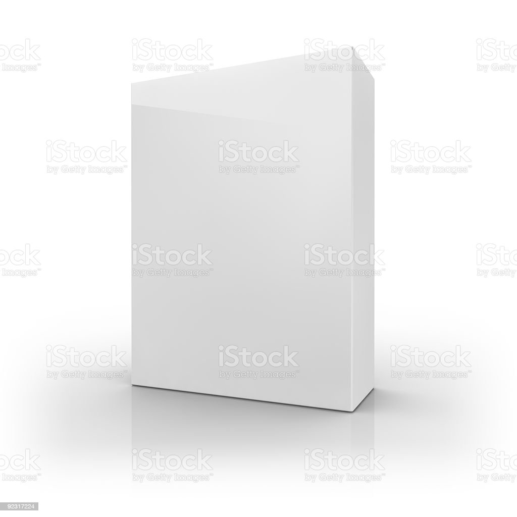 A blank retail cereal product packaging stock photo