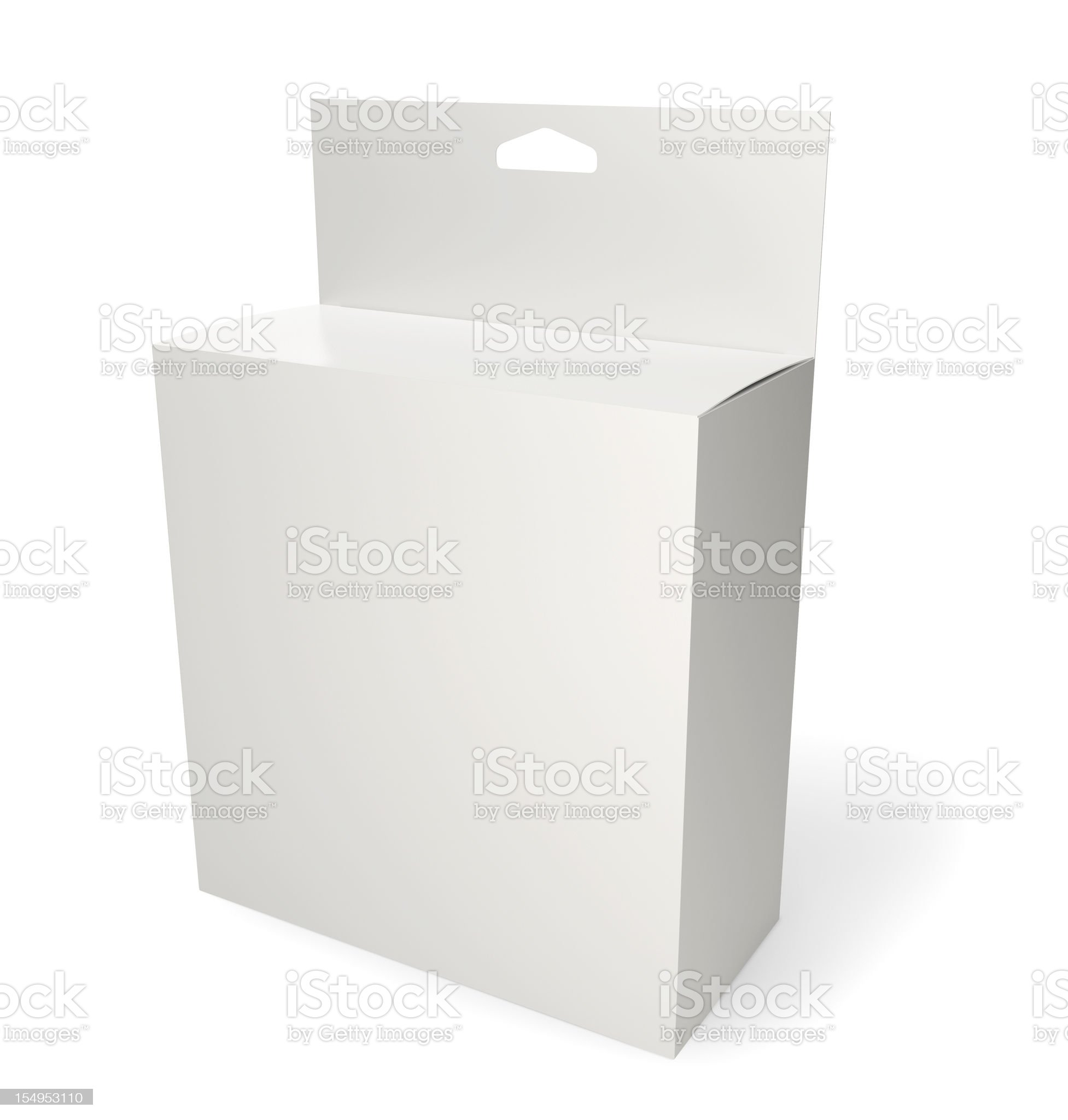 Blank retail product package isolated on white royalty-free stock photo