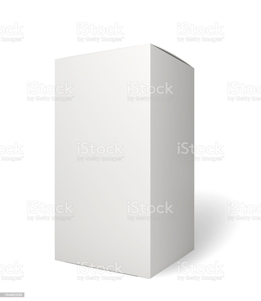 Blank retail product package on white royalty-free stock photo