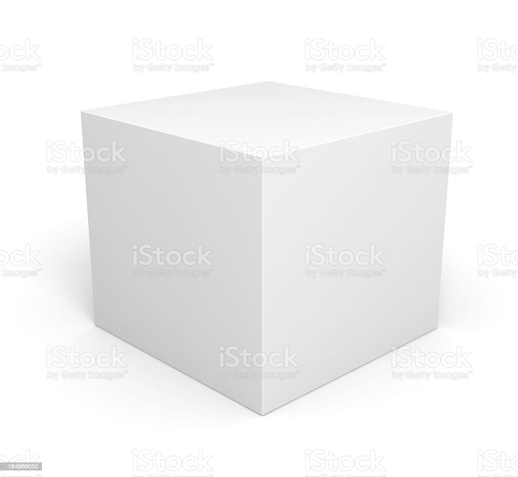 Blank retail white box stock photo