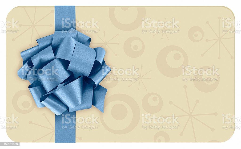 Blank Retro Gift Card royalty-free stock photo