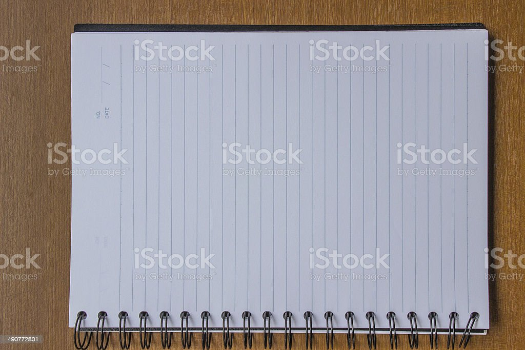 Blank ring binder.Notebook royalty-free stock photo