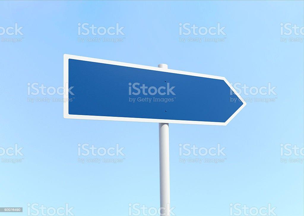 Blank road arrow signpost stock photo