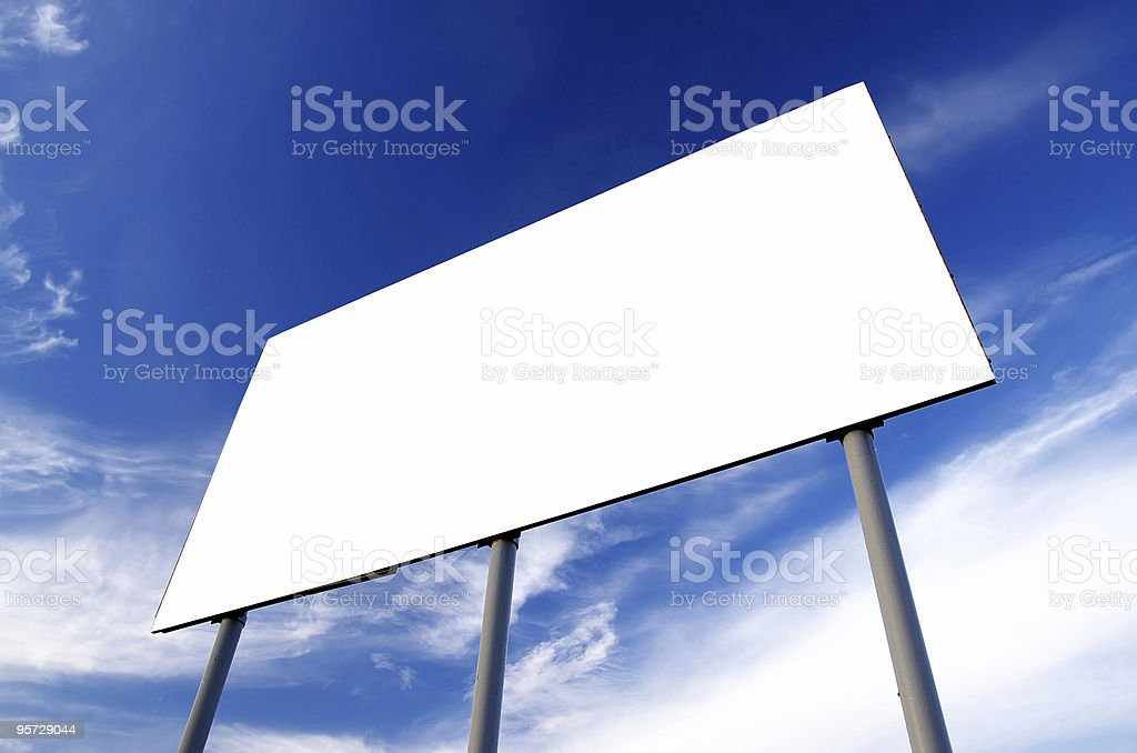 Blank road billboard royalty-free stock photo