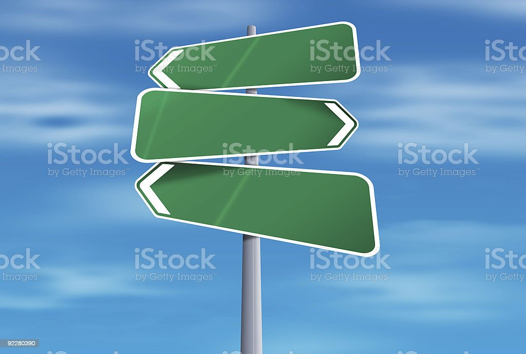 Blank Road Sign (Landscape) royalty-free stock photo