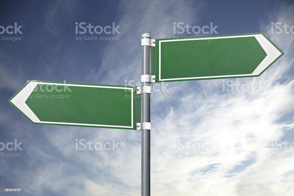 Blank road signs royalty-free stock photo