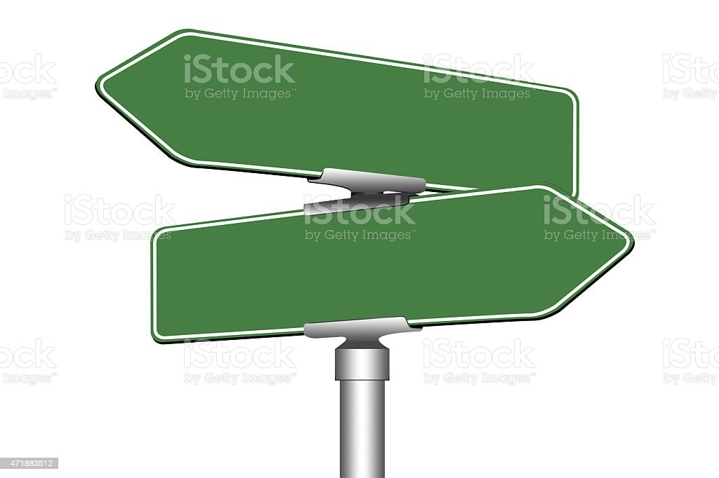 Blank road signs stock photo