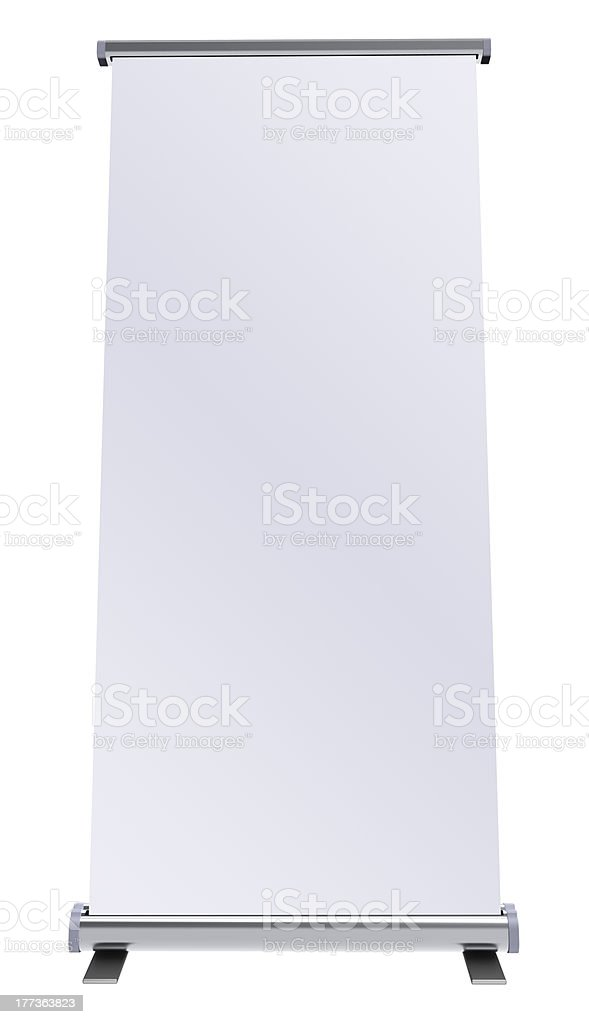 Blank roll up banner royalty-free stock photo