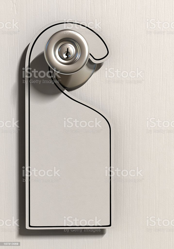 Blank Room Tag stock photo